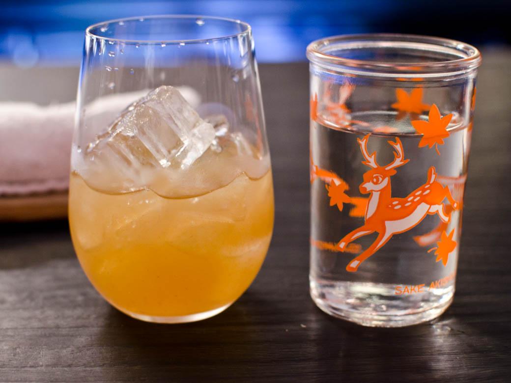 Izakaya Den - Umeshu & water glass