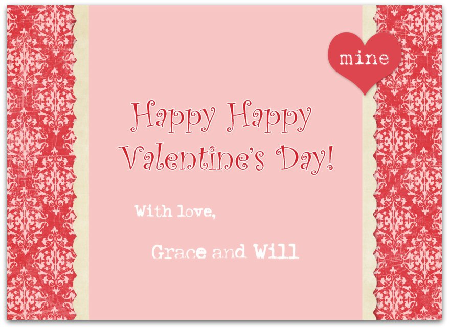 Valentine card Back