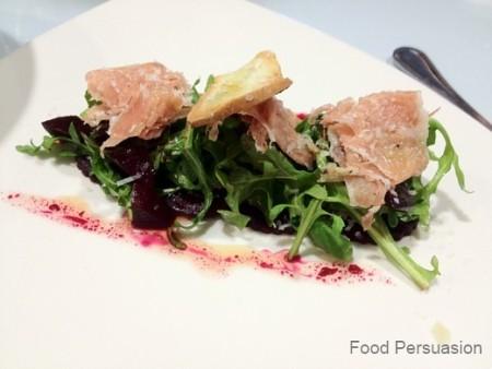 Arugula & beet salad