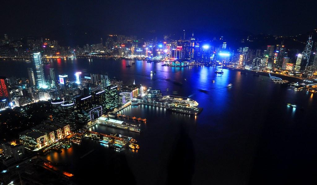 香港天際sky100夜景