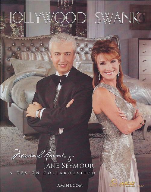Hollywood Swank Michael Amini & Jane Seymour STUPID ADS drollgirl