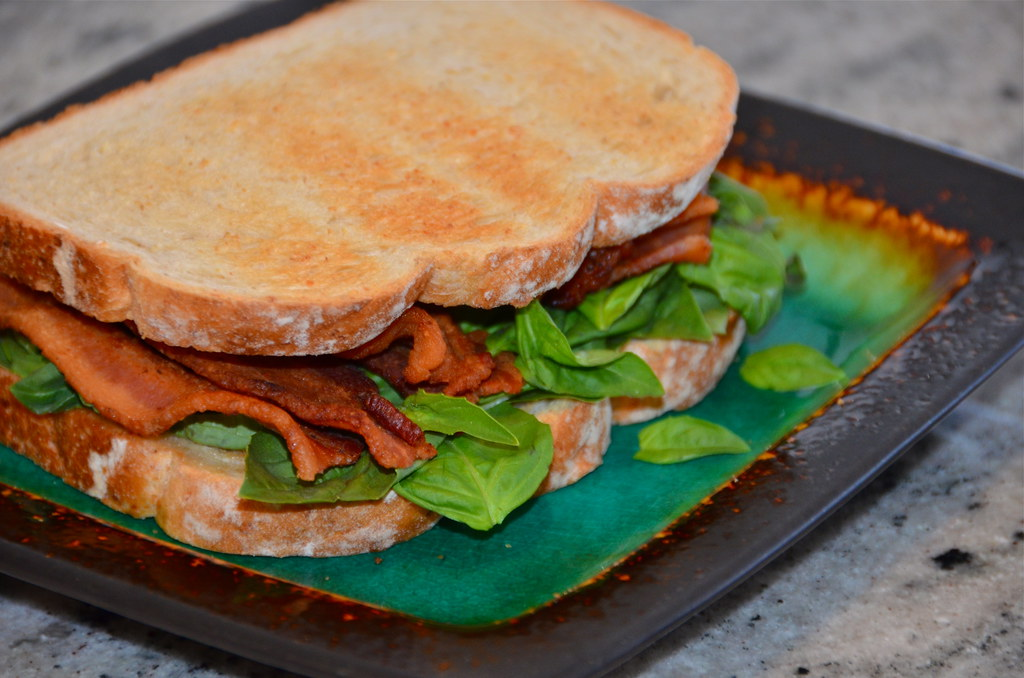 Bacon and Basil Sandwich
