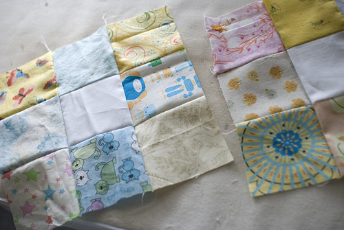 Squares within squares. Baby within mom. Yep, it's baby quilt time!