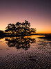 Night time at Nudgee Beach by theotherjamespartridge.com