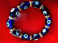 Evil eye bracelet - in Aruba. Macro Monday theme: Anything Goes