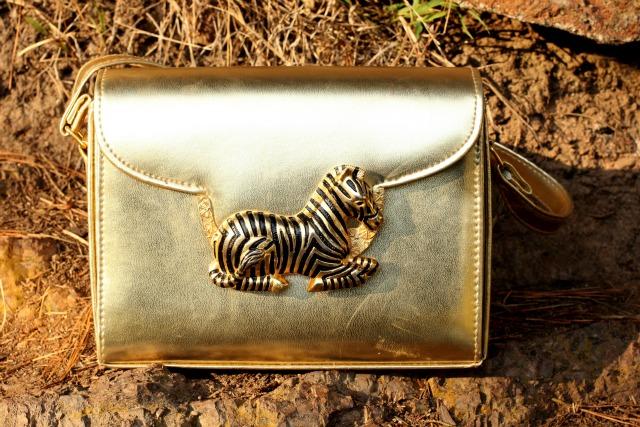 vintage zebra bag