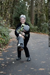 paula intercepts sequoia on his walk to lunch    MG …