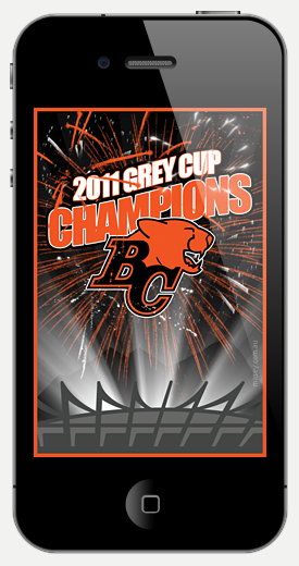 2011 Grey Cup Champions - BC Lions iPhone Wallpaper