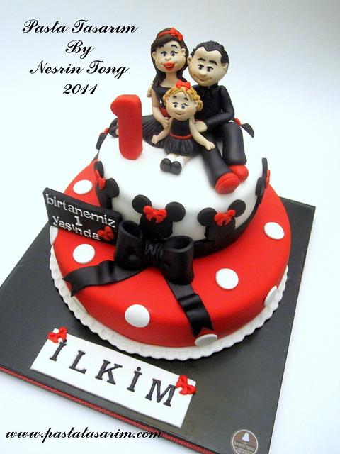 1ST BIRTHDAY CAKE - ILKIM