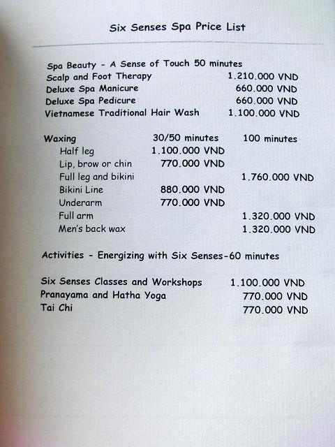 """Six Senses Spa """"treatment menu"""" 24"""