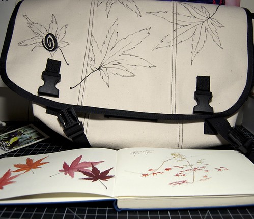 maple leaves bag