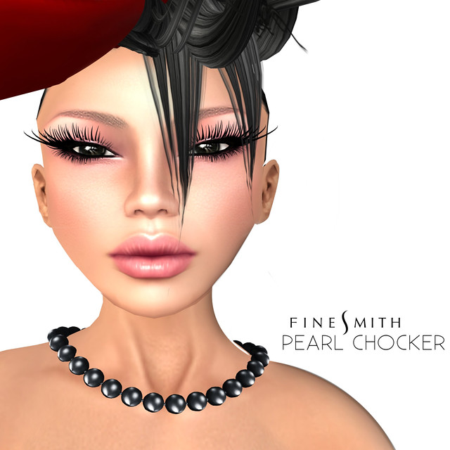 FINESMITH Pearl chocker Black