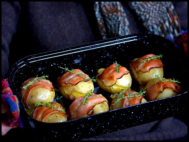 Raclette-Kartoffeln mit Tiroler Speck