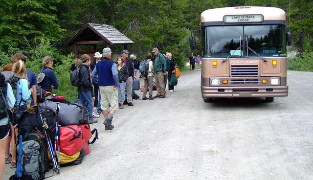 bus naar Lake O'Hara