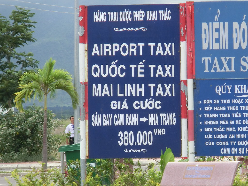 カムラン国際空港からニャチャン(Nha Trang)までのタクシー料金/Taxi fee- Cam Ranh International Airport (NHA)