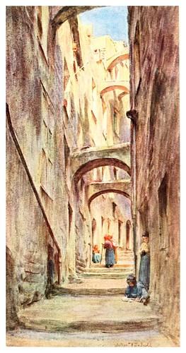 012-Callejon de la Providencia en San Remo-An artist in the Riviera (1915)-Walter Tyndale
