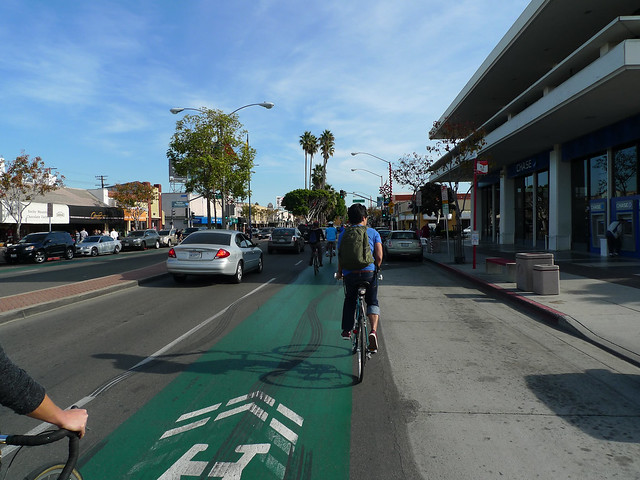 Great bike lanes in Belmont Shore