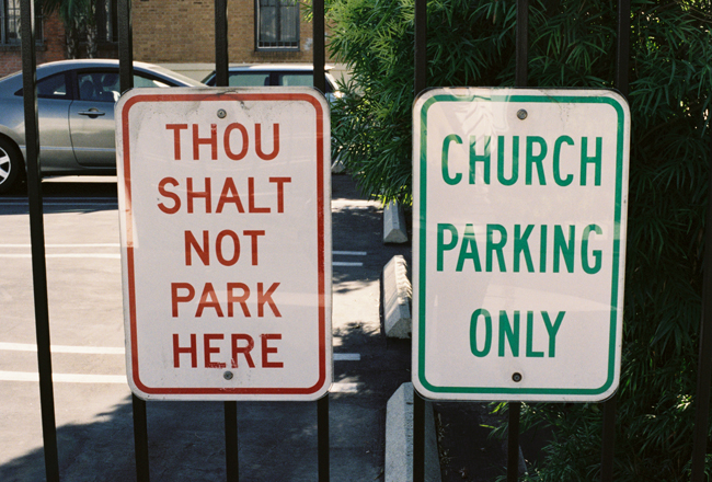 thou shalt not park here