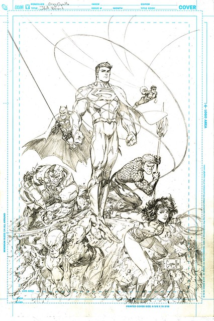 Justice League 3 variant cover by Greg Capullo pencils