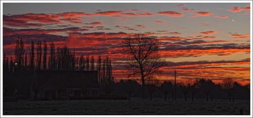 silhouette sunrise belgium lokeren janherremans