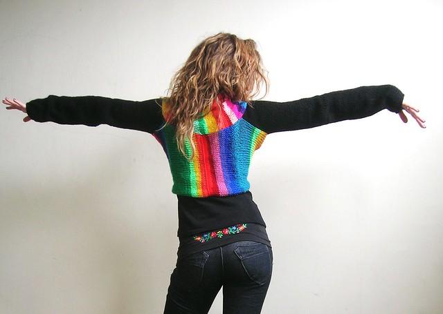Knitted Rainbowlero