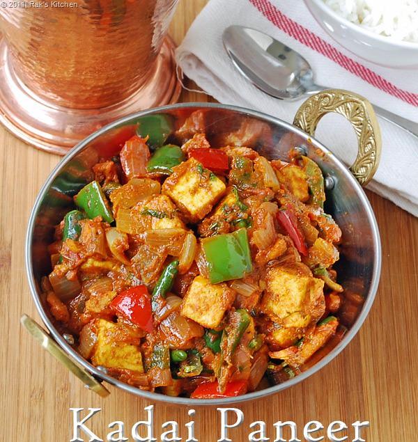 Kadai paneer recipe