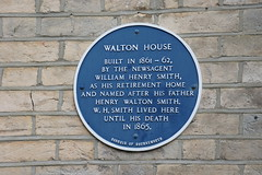 Photo of Walton House and William Henry Smith blue plaque