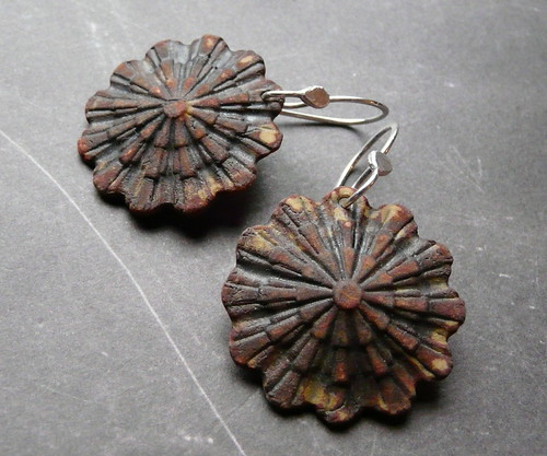 Deco Starburst Porcelain Earrings