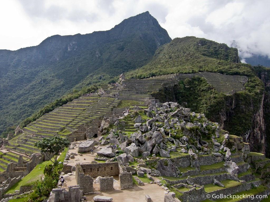 The rock quarry at Machu Picchu