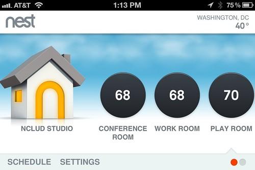 Вы можете просматривать данные по использованию энергии и графики прямо на термостате или в приложении