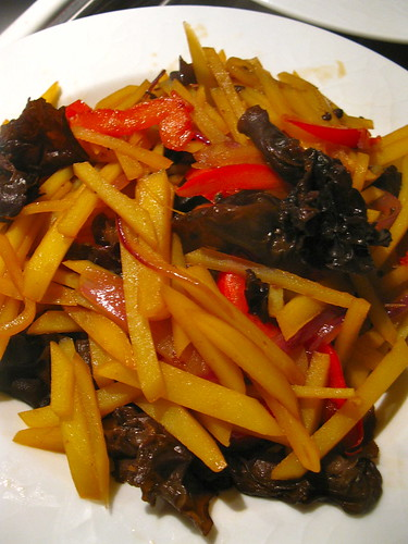 Singlish Swenglish Spicy and Sour Stir Fry Potatoes and Black Fungus