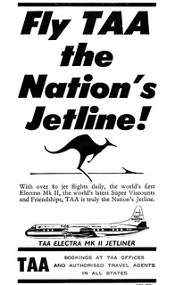 1959 TAA Airlines ad