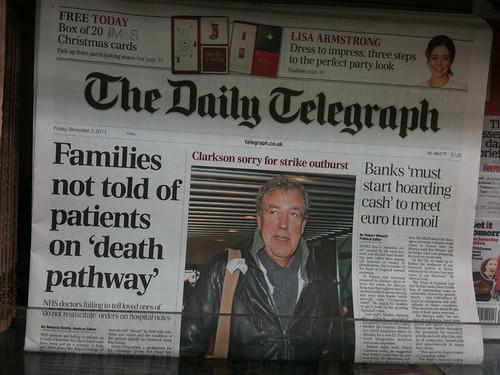 Una portada del Daily Telegraph