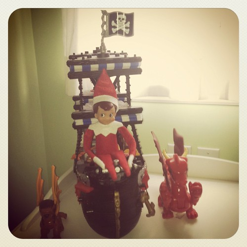 Dec 10 - Elf riding the pirate ship