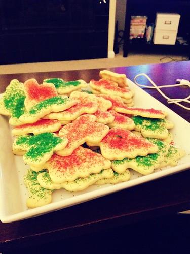 Christmas cookies.