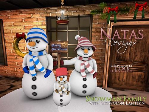 Snowman Family by natashashoteka