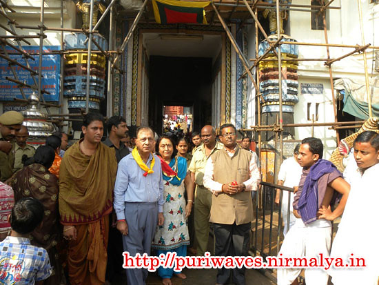 Justice of All India Chairman of C.A.T has visited Puri