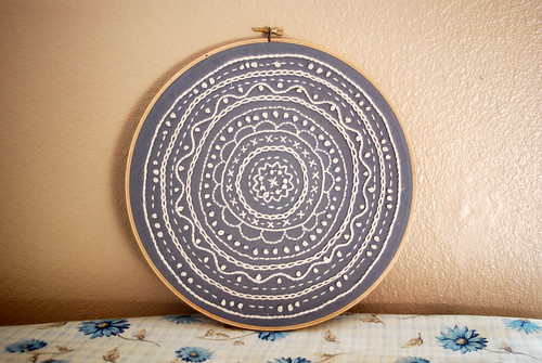 Embroidered Doily Hoop