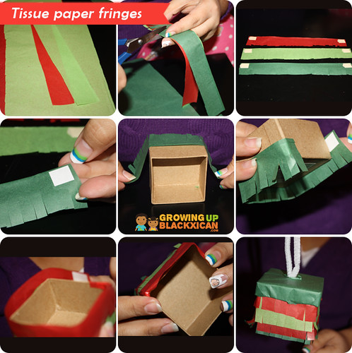 posada pinata ornaments :tissue paper fringes copy