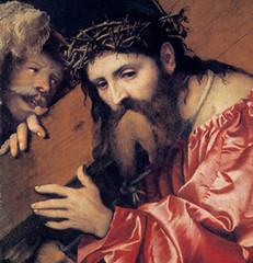 Girolamo Romanino (1542), Jesús con la cruz a cuestas