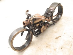 Bike 165 Copper and Bronze Motorcycle Sculpture