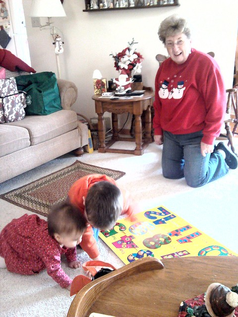 Puzzle time with Grandma