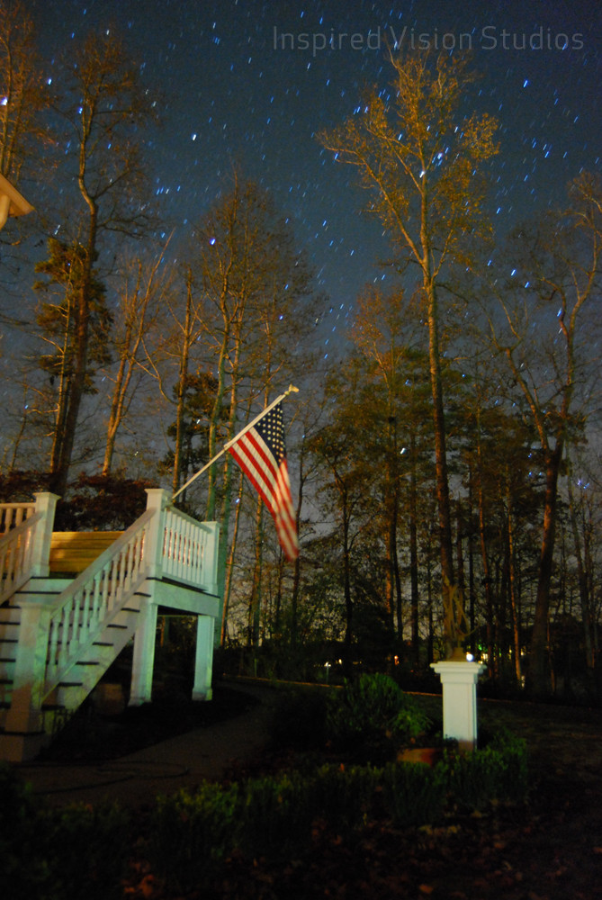 night photo, american flag, thanksgiving, Inspired Vision Studios