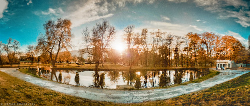 park city sunset panorama lake reflection water angle wide ps macedonia edit skopje ezero makedonija gradski
