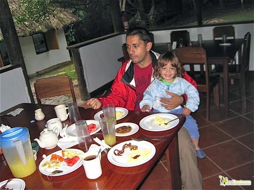 breakfast at belize camp ground