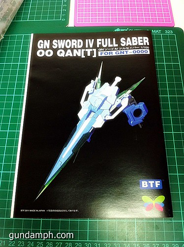 6544024901 6523191359 MG Quan[T] GN Sword IV Full Saber | BTF Colored Resin Kit | Unboxing