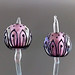 Earring pair : Violet leaf