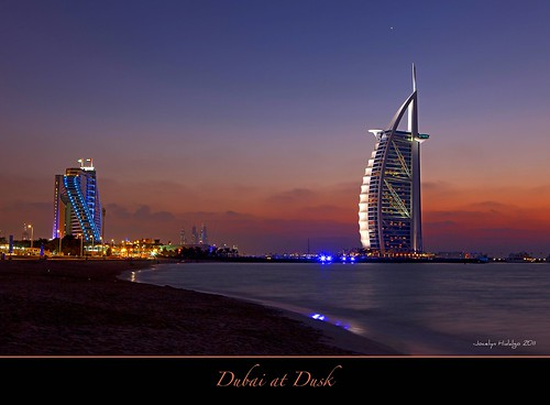 "Dubai at Dusk by Joalhi ""Around the World"""