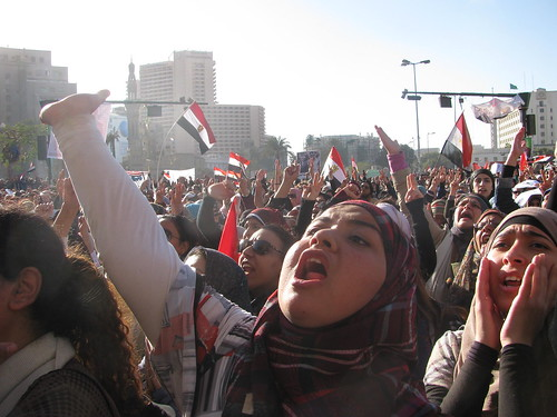 Egyptian Women and Girls protesting Army  Abuses-tahrir
