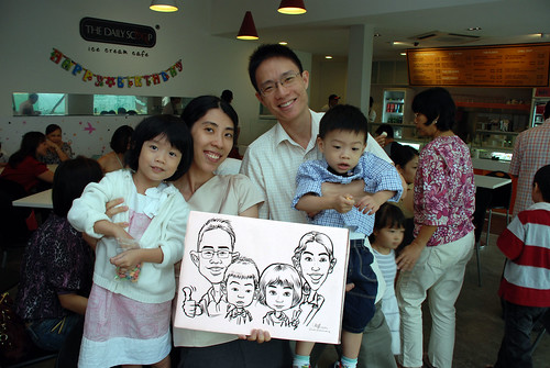 caricature live sketching for birthday party 2nd Oct 2011 - 1